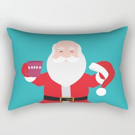 Have a A delightful cup of Christmas with Santa Claus Rectangular Pillow