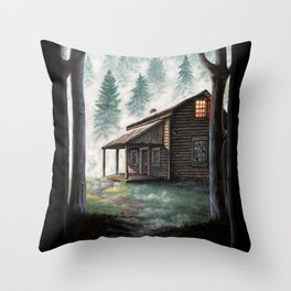 Cabin in the Pines Throw Pillow