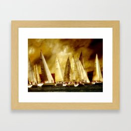 sail race start Framed Art Print