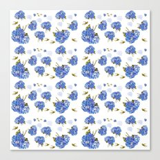 Cape Cod Hydrangea Blooms and gold birds Canvas Print