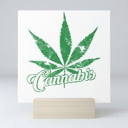 Cannabis Weed Leaf Mini Art Print