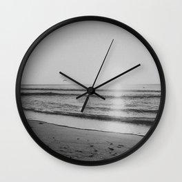 HALF MOON BAY VII (B+W) Wall Clock