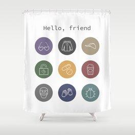 Hello, friend - Mr. Robot Shower Curtain