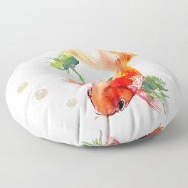 Goldfish, aquarium fish art, design watercolor fish painting Floor Pillow