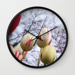 Tulips Ready For Lift Off Wall Clock