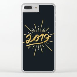 Happy New Year 2019 Silvester Firework Gift Idea Clear iPhone Case