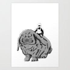 Rabbit Speeder Art Print