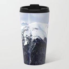 Snow cowered peaks Travel Mug