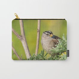 Sparrow on Lupine Carry-All Pouch