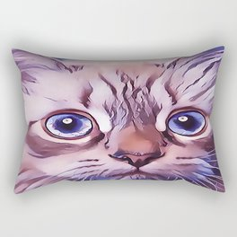 Birman The Blue Eyed Cat Rectangular Pillow