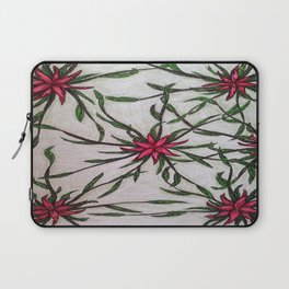 red and green flower- patern Laptop Sleeve