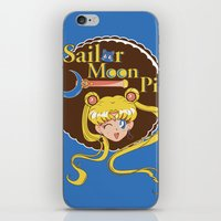 pie iPhone & iPod Skins featuring Moon Pie by Ashley Hay