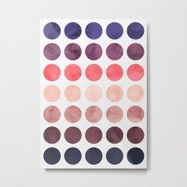 Colorful watercolor circles II Metal Print