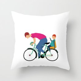Balade à vélo Throw Pillow