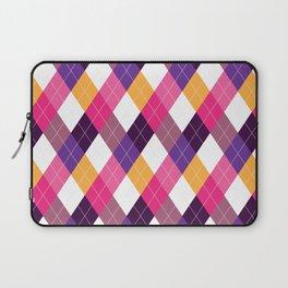 Pink & Purple Argyle Laptop Sleeve