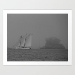 Island in the Fog Art Print