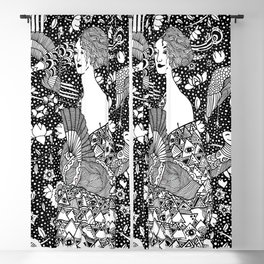 Gustav Klimt - Lady with fan Blackout Curtain