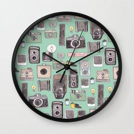 Vintage Camera Print Wall Clock