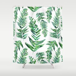 Jungle Ferns Shower Curtain