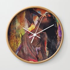 Fences Abstract Portrait Wall Clock