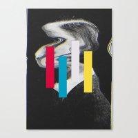glitch Canvas Prints featuring Glitch by Mrs Araneae