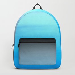 New Day 5 Blue Teal Gray Black - Abstract Art Series Backpack