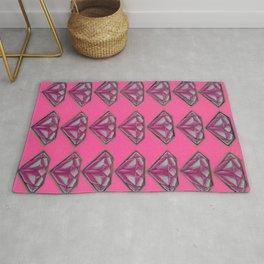 Diamonds (pink) Rug