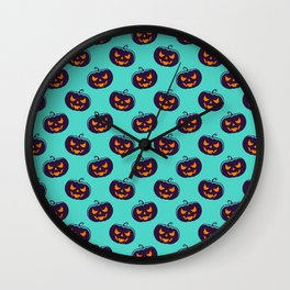 Halloween Cute Pattern Wall Clock