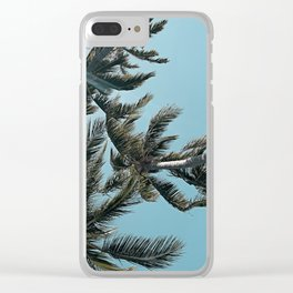 Perfect Sky Palms Clear iPhone Case