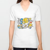 simpsons V-neck T-shirts featuring Simpsons by Ray Kane