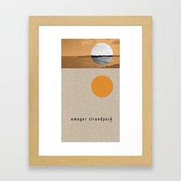 Amager Strandpark Framed Art Print