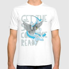 Get the Swan costume ready. White Mens Fitted Tee MEDIUM