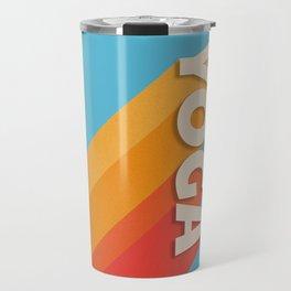 Yoga retro typography Travel Mug