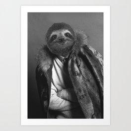 Model Sloth Art Print