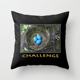 Inspirational Challenge Throw Pillow