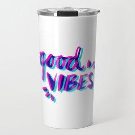 Good Vibes – Magenta & Cyan Travel Mug