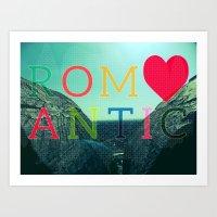 romantic Art Prints featuring ROMANTIC by famenxt