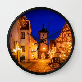 Photo Bavaria Germany Christmas Rothenburg ob der  Wall Clock