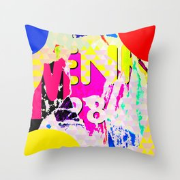The River Flow - Abstract Pop Art Painting & Comic Throw Pillow
