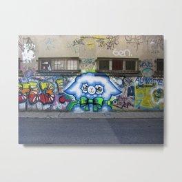 Street art alpaga Metal Print