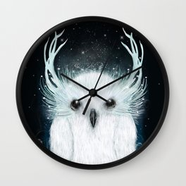 the white owl Wall Clock