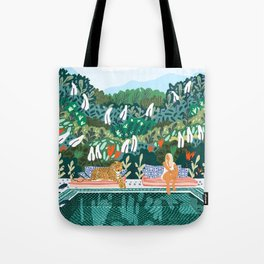 Chilling || #illustration #painting Tote Bag