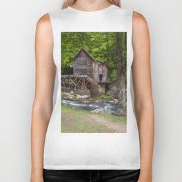 Glade Creek Grist Mill In Summer Biker Tank