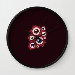 Bloody eyeballs Wall Clock