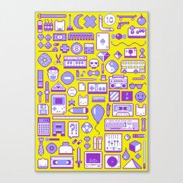 """Childhood Memories"" pixel art poster Canvas Print"