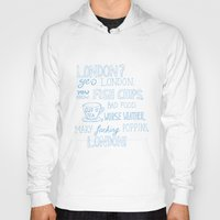 snatch Hoodies featuring snatch quote blue by Jordan Coombes
