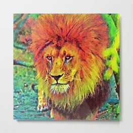 AnimalColor_Lion_007_by_JAMColors Metal Print