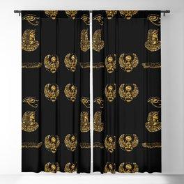 Egyptian Symbols Blackout Curtain