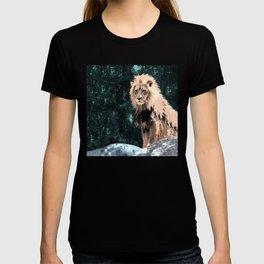 Lion King of the Emerald Panthera Galaxy T-shirt