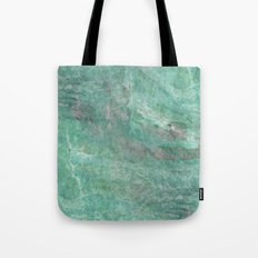 Mossy Woods Green Marble Tote Bag